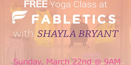 FREE Yoga Class @ Fabletics Fashion Valley tickets