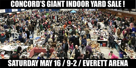 Concord's Giant Indoor Yard Sale! 10 x 10 Yard Seller Spaces tickets