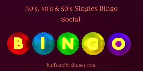 Bingo Social for 30's, 40's & 50's Singles - Boston Party for Singles tickets