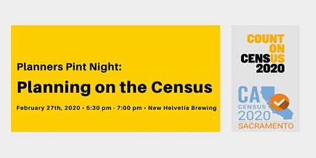 Planners Pint Night: Planning on the Census tickets