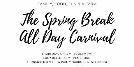 The Spring Break All Day Carnival -Sallie Z  Elementary School Ticket tickets