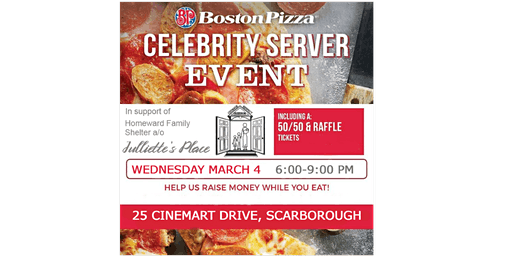 Julliette's Place - Celebrity Server Night at Boston Pizza
