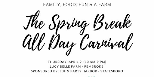 The Spring Break All Day Carnival -Rincon Elementary Ticket