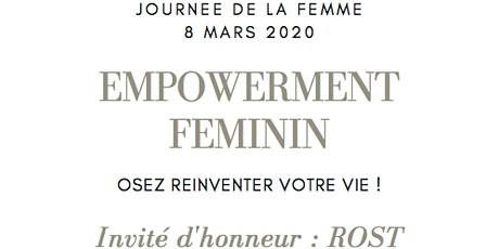 Empowerment Féminin billets