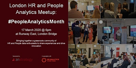 #PeopleAnalyticsMonth: London HR and People Analytics Meetup - 17 March tickets