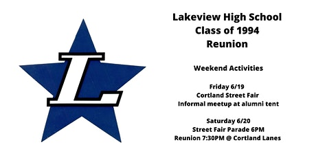 Lakeview High School Class of 1994 Class Reunion  tickets