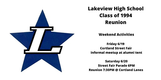 Lakeview High School Class of 1994 Class Reunion