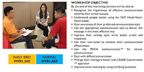 Communicating Confidently At Work (2-Day)- HRDF Claimable tickets