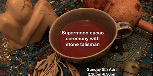 Supermoon cacao ceremony with making a stone talisman