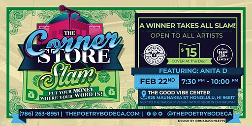The Corner Store Poetry Slam + Open Mic