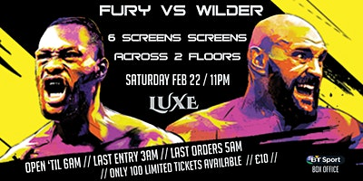 Live@Luxe: Wilder vs Fury 2