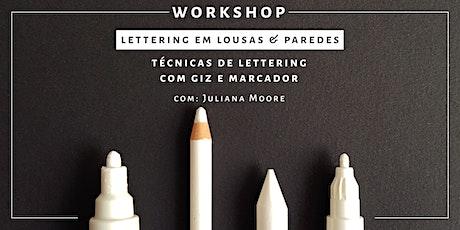 Lettering em Lousas & Paredes - São Paulo ingressos