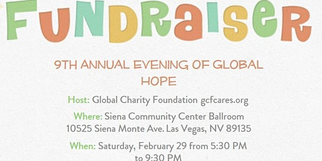 Copy of GCF Community Education Program 9th Annual Evening of Global Hope tickets