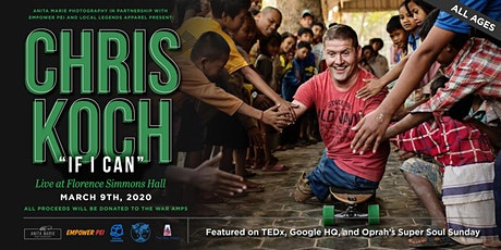 """Anita Marie Photography & Empower PEI Presents: Chris Koch """"If I Can"""" - In Support of The War Amps tickets"""