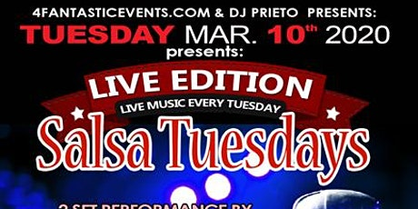 """Live Edition Salsa Tuesday – Live Band """"Tino & the Latin Swing Factor"""" tickets"""