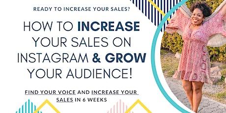 Instagram Sales Accelerator tickets