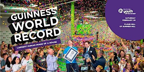 WORLD RECORD ATTEMPT: Largest Image of a House Made of Humans (1000 people) tickets