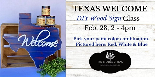 Texas Welcome DIY Wood Sign Class