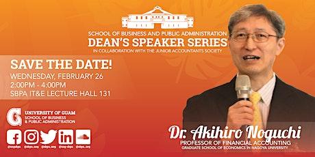 SBPA Dean's Speaker Series - Dr. Akihiro Noguchi tickets