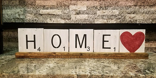 Scrabble Wall Art Tiles Stone & Pallet™ Schererville - Eco-friendly Home Goods made by YOU!