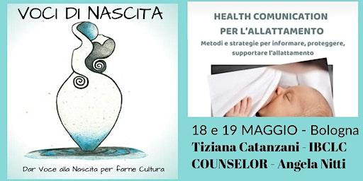 HEALTH COMMUNICATION - NEL SOSTEGNO ALL'ALLATTAMEN
