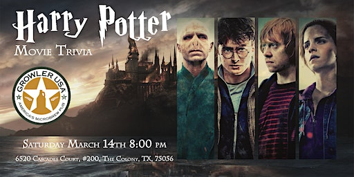 Harry Potter Movies Trivia at Growler USA The Colony