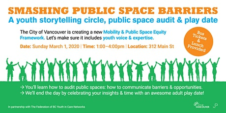 Smashing Public Space Barriers: A Youth Placemaking Event tickets