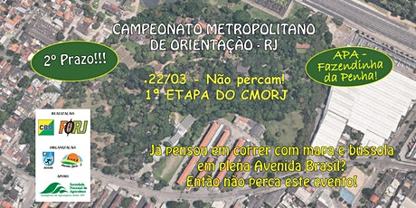 1ª ETAPA DO CMORJ - CAMPEONATO METROPOLITANO DE ORIENTAÇÃO DO RJ ingressos