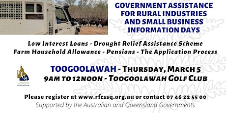 Toogoolawah Government Assistance Info Day tickets