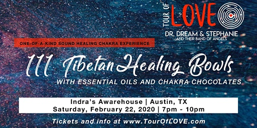 111 Healing Bowls, Essential Oils & Chocolate Experience, Austin, TX