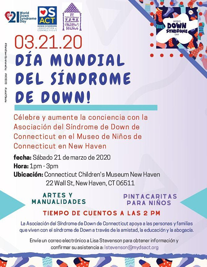 POSTPONED - World Down Syndrome Day in New Haven - DS ACT Style! image