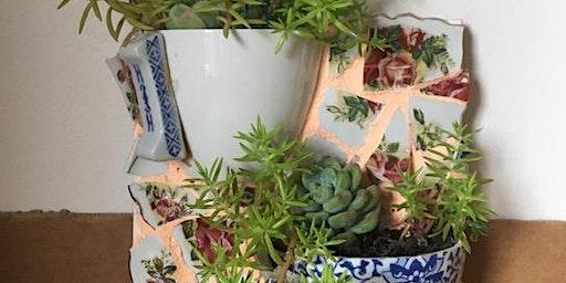Upcycled Mosaic Planters