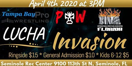 Pride of Wrestling, Tampa Bay Pro, and IWA Florida presents Lucha Invasion tickets