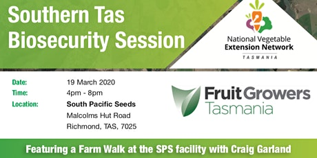 VegNET Tas and FGT Biosecurity Session tickets