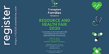 Transplant Families Resource Fair 2020 tickets