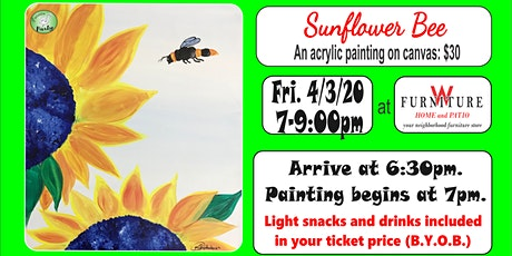 PAINTIN' PARTY with KAT: Sunflower Bee (ACRYLIC PAINTING on CANVAS) tickets
