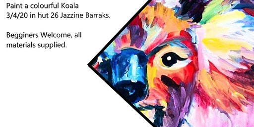 Paint Colourful Koala in Townsville (Paint and Sip)