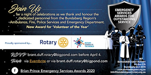 2020 Brian Prince - Emergency Services Awards