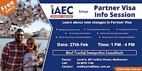 Free Partner Visa Info Session tickets