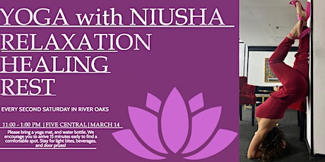 Yoga with Niusha in River Oaks tickets