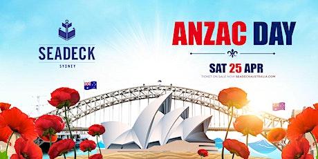 Seadeck Anzac  Cruise - Sat 25th April tickets