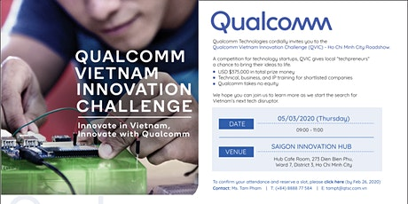 Qualcomm Vietnam Innovation Challenge -  Ho Chi Minh City Roadshow tickets