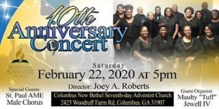 New Bethel Chamber Singers 10th Anniversary Concert