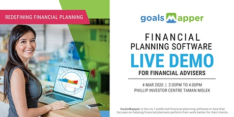GoalsMapper Financial Planning Software Live Demo tickets