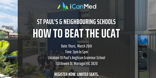 Free UCAT Workshop: How to Beat the UCAT (St Paul's & Neighbouring Schools)