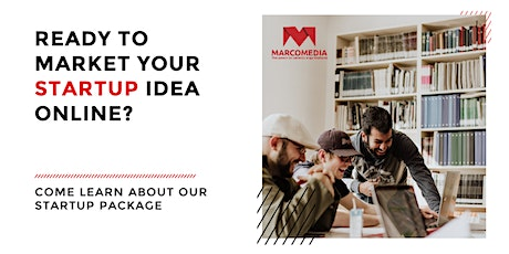 Ready to market your startup idea online? Come learn about our package. tickets