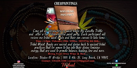 Waist beads Paint Party tickets