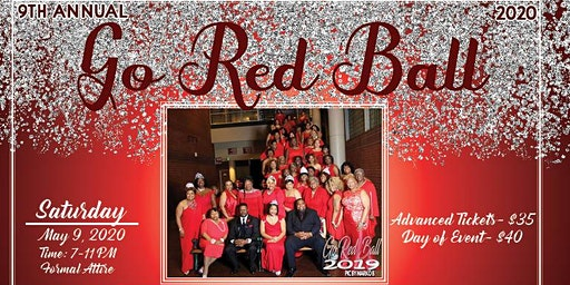 "9th Annual Go Red Ball   ""Fighting heart disease 'one beat' at a time."""