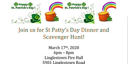 St Patty's Day Dinner and Scavenger Hunt