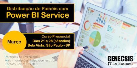 Distribuição de Painéis com Power BI Service ingressos